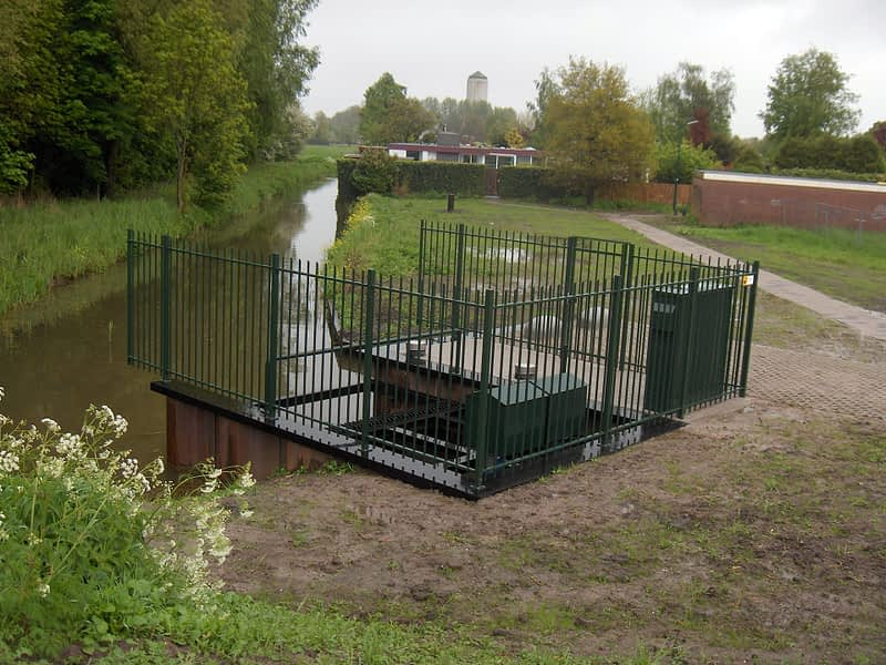 van Hees aannemer waterbouw: gemalen project